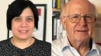Verlegerin und Chefredaktorin Min-Li von «P.S.» und SVP-Nationalrat Ulrich Schlüer von der «Schweizer Zeitung».