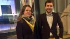 Uriel Seibert, 27, Grossrat AG und Myriam Zürcher, 29, Mitglied des Grossen Gemeinderates Ostermundigen.