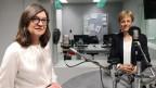Das Bild zeigt SP-Nationalrätin Silvia Schenker und SVP-Nationalrätin Verena Herzog im SRF-Radiostudio in Bern.