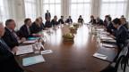 Konsultationen zwischen dem Bundesrat und den Gewerkschaften betreffend des Rahmenabkommens Schweiz EU, am 13. März 2019.