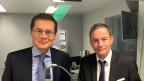 Zu Gast im Politikum sind die beiden Zürcher Nationalräte Roger Köppel (SVP) und Martin Naef (SP)