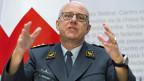 Philippe Rebord, Chef der Armee, an der Medienkonferenz vom 4. April 2019 in Bern.