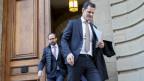 Hat gegen Tamedia geklagt: FDP-Staatsrat Pierre Maudet verlässt das Genfer Zivilgericht nach einer Anhörung.