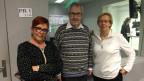 Zu sehen ist die Freitagsrunde von links nach rechts mit Cécile Bühlmann, Hans Kaufmann und Dora Andres.