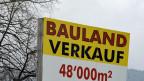 Bauland zu verkaufen. Symbolbild.