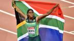 Die südafrikanische 800 Meter-Läuferin Caster Semenya an der WM 2017 in London.