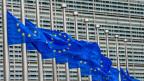 Die Fahnen der EU vor dem EU-Gebäude in Brüssel.