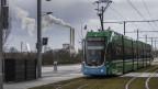 Die ersten Tramkompositionen fahren auf der Verlängerung der Tramlinie 3 von Basel nach Saint-Louis am 9. Dezember 2017.