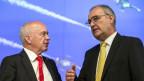 Die Bundesräte Ueli Maurer (links) und Guy Parmelin.