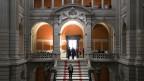 Eingangshalle im Bundeshaus Bern.