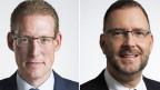 Adrian Wüthrich, Nationalrat der SP des Kantons Bern (links) und Hans-Peter Portmann, Nationalrat der FDP des Kantons Zürich.