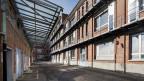 Ehemaliges Produktionsgebäude der chemischen Industrie im Klybeck-Areal in Basel.