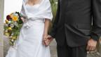 Symbolbild eines Brautpaares.