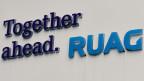 Das Logo des Rüstungskonzerns Ruag.