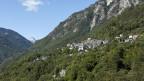 Blick auf das Dorf Loco im Onsernonetal.