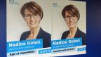 Wahlplakat für die FDP-Kandidatin Nadine Godet.