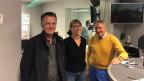 unsere Gäste stehen im Studio von SRF4 News