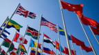 Symbolbild. Fahnen verschiedener Länder.