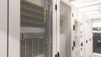 Blick auf einen Serverraum des neusten Rechenzentrums der Firma Green Datacenter in Lupfig/AG.