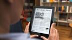 Ein Leser liest die NZZ online an einem iPad.