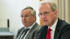 Jean-Francois Rime, SGV-Präsident, links, und Hans-Ulrich Bigler, SGV-Direktor.
