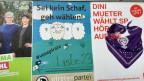 Wahlplakate in Bern.