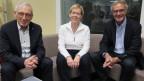Carlo Schmid, Dora Andres, Peter Bertschi (v.l.n.r.)