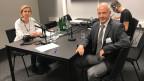 Regina Carstensen, Zürcher Rechtsanwältin und Reinhard Brunner, Chef der Präventionsabteilung der Kantonspolizei Zürich.