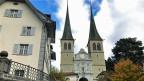 Die Hofkirche St. Leodegar in Luzern.
