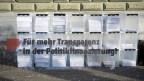 Einreichung der Transparenz-Initiative am 10. Oktober 2017 in Bern.