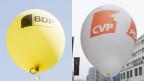 Ballone der CVP und der BDP.