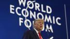 US-Präsident Donald Trump am WEF in Davos ein.