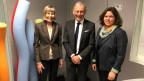 Erika Forster (links), Carlo Schmid, Michelle Beyeler