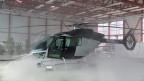 "Der neue Helikopter ""SKYe SH09"" im Hangar in Mollis/GL."