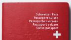 Detailansicht Schweizer Pass.