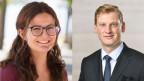 Julia Küng von den Jungen Grünen (li.)und David Trachsel von der Jungen SVP.