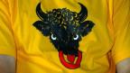 Der Uri-Stier auf einem T-Shirt.