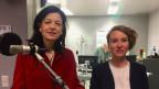 FDP-Nationalrätin Regine Sauter und Grüne-Nationalrätin Irène Kälin im SRF-Radiostudio Bern.