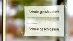 Schule in Baden-Württemberg, Deutschland, die wegen des Coronavirus geschossen ist. Symbild.