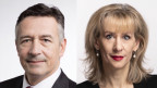FDP-Ständerat Hans Wicki und SP-Nationalrätin Priska Seiler Graf im Radiostudio Bern.