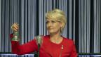 Nationalratspräsidentin Isabelle Moret eröffnet die ausserordentliche Session der Eidgenössischen Räte zur Corona-Krise.