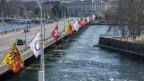 Das Bild zeigt eine Brücke in Genf.
