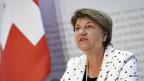 Die Verteidigungsministerin Viola Amherd an einer Medienorientierung.