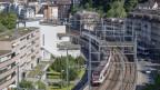 Ein Zug der SBB auf der Durchfahrt an der Baselstrasse in Luzern am Dienstag, 2. Juni 2020.