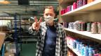 Yari Kopt war einer der ersten, der in der Schweiz Stoffmasken produzierte.
