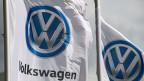 Das Logo von VW.
