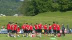 Die Schweizer Fussball-Nationalmannschaft, am 4. Juni beim Training in Châtel-Saint-Denis.