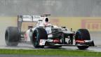 Sauber-REnnwagen am Rennen in Silverstone 2012.