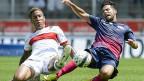 FZC gegen Sion: Die Spieler beider Mannschaften haben Trikots ohne Werbung auf der Brust.