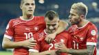 Granit Xhaka, Xherdan Shaqiri und Valon Behrami hätten auch für Albanien spielen können.